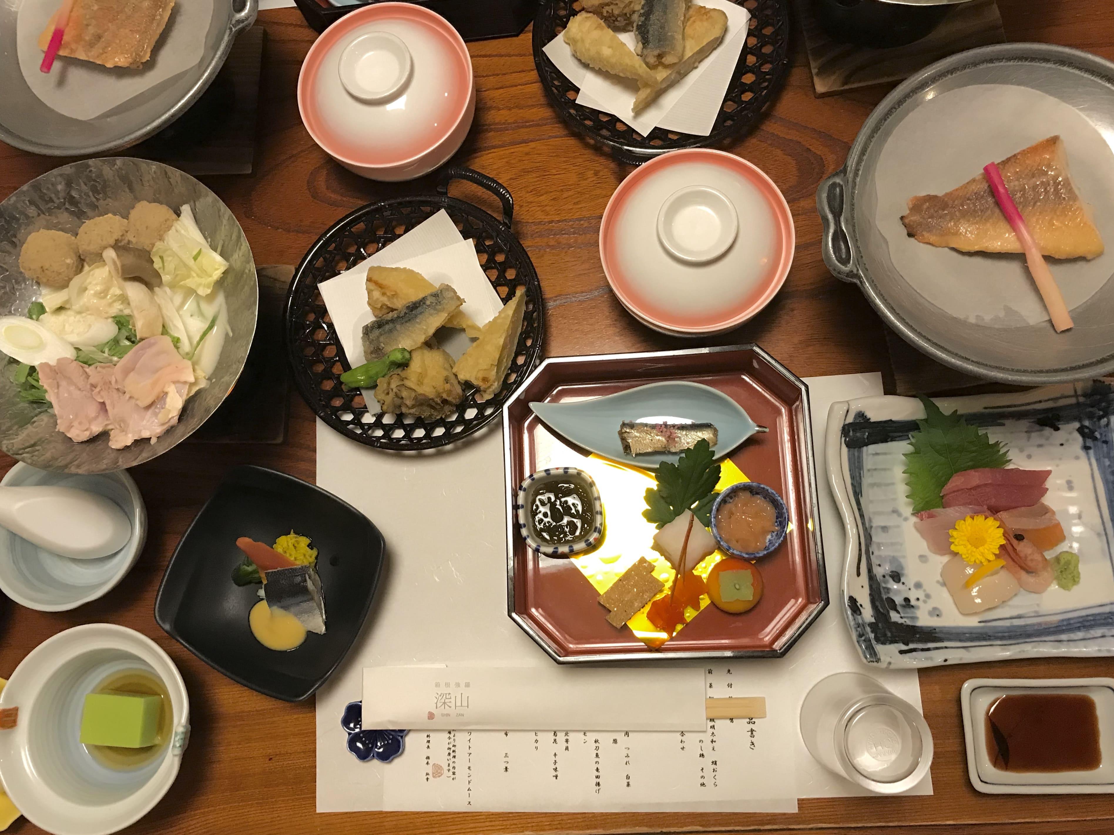箱根強羅深山夕食